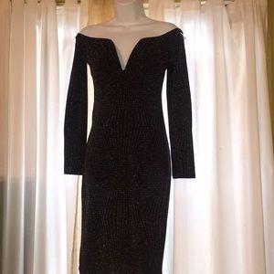 Fashion nova plunge off the shoulder dress
